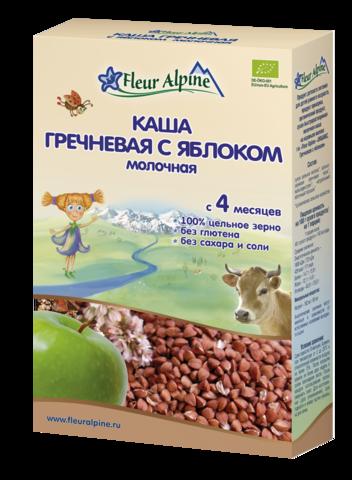 Каша молочная ГРЕЧНЕВАЯ С ЯБЛОКОМ Fleur Alpine