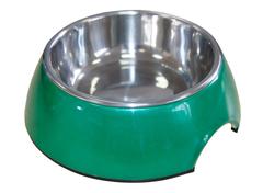 Миска на меламиновой подставке 160 мл зеленый перламутр, SuperDesign