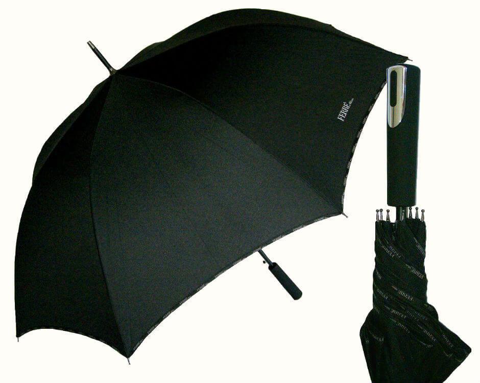 Зонт-трость Ferre GF-LA3013-Golf Nero piping