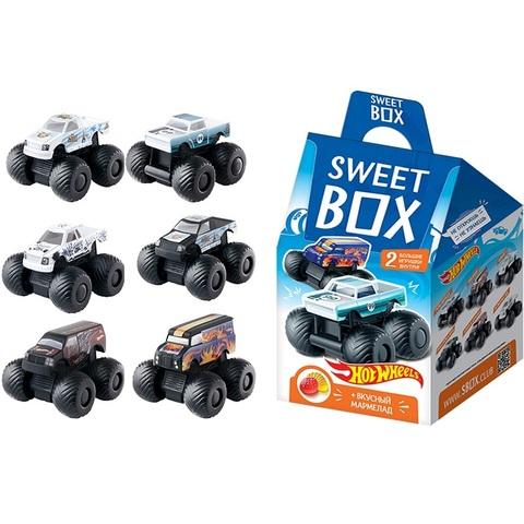 СВИТБОКС DOUBLE HOT WHEELS LB Мармелад с 2-мя игрушками в коробочке  1кор*4бл*12шт, 10г.