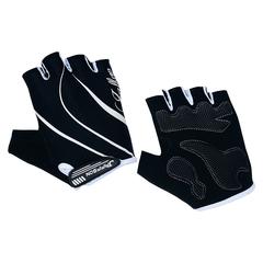 Велоперчатки JAFFSON SCG 47-0120 (чёрный/белый)
