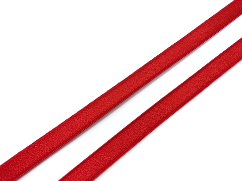 Резинка бретелечная красная 10 мм (цв. 100)