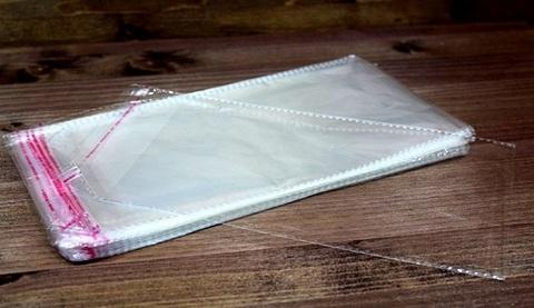 Пакеты прозрачные с клапаном на скотче 27*12 см, 100шт