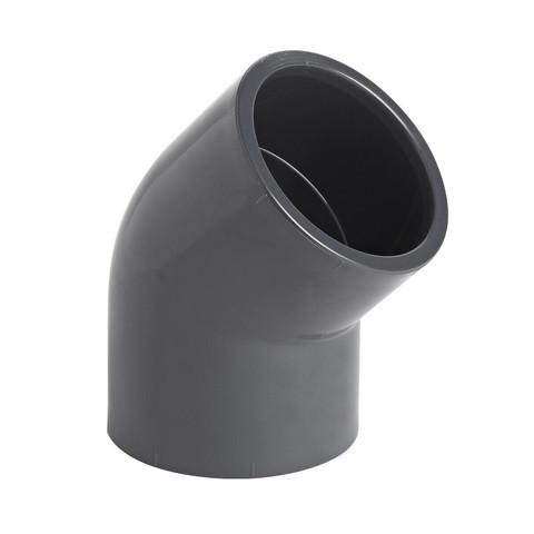 Отвод клеевой ПВХ AquaViva 45°/ d50 мм (ELW05045) / 22789