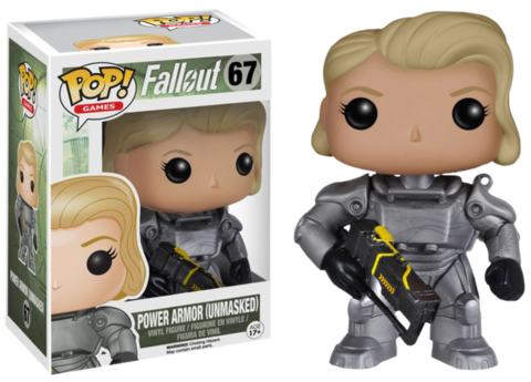 Фигурка Funko Pop! Games: Fallout - Power Armor (Unmasked) (Excl. to GameStop)