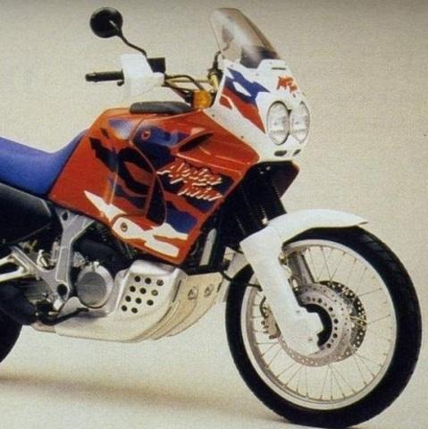 Набор наклеек Honda XRV 750V Africa Twin '96-1999 (пластик белый/красный)