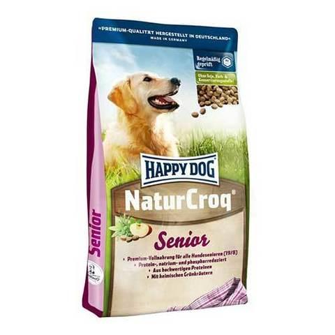HAPPY DOG Сухой корм для пожилых собак всех пород NaturCroq Senior