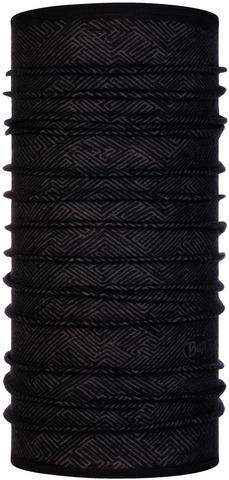 Тонкий шерстяной шарф-труба Buff Wool lightweight Tolui Black фото 1