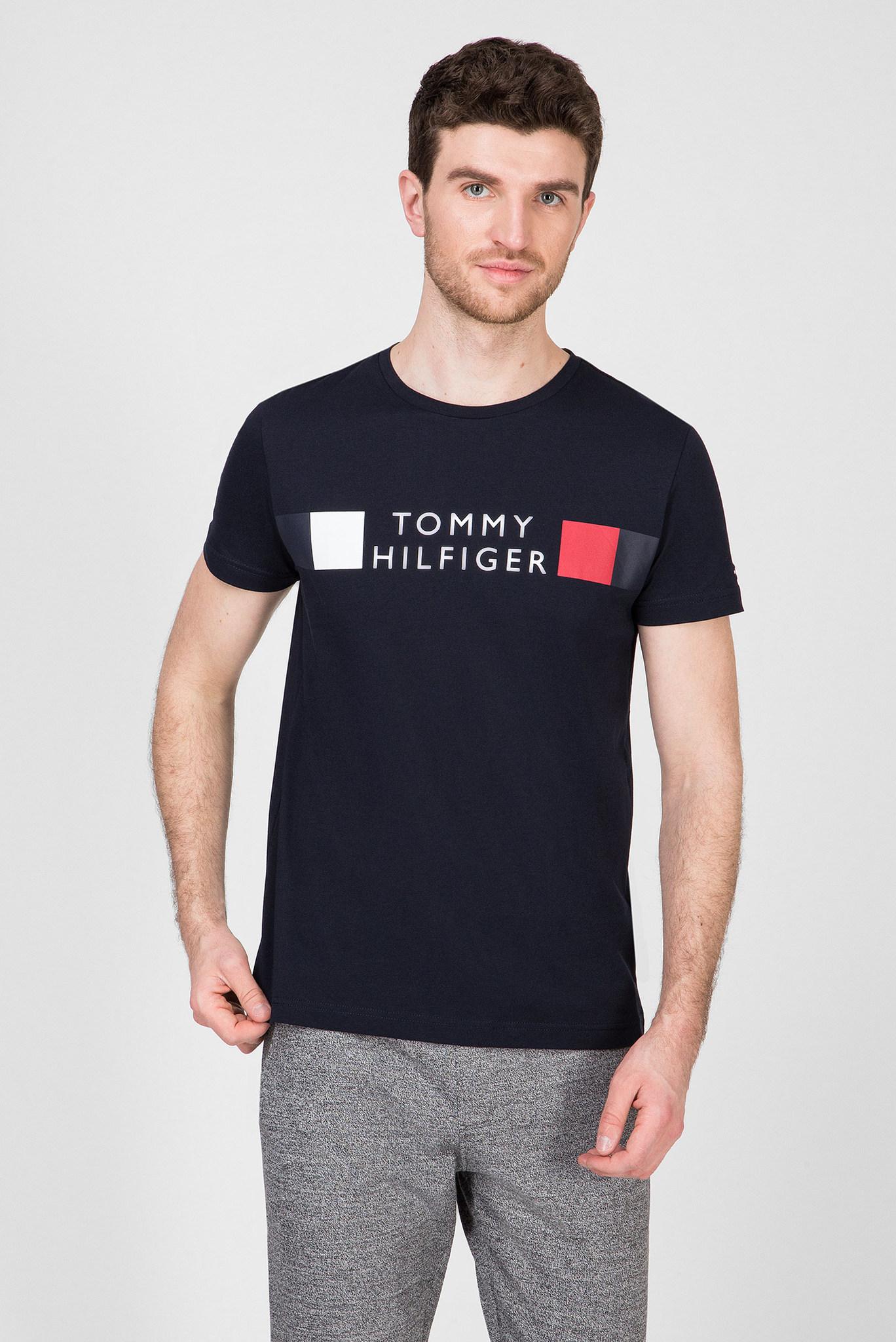 Мужская темно-синяя футболка RWB STRIPE Tommy Hilfiger