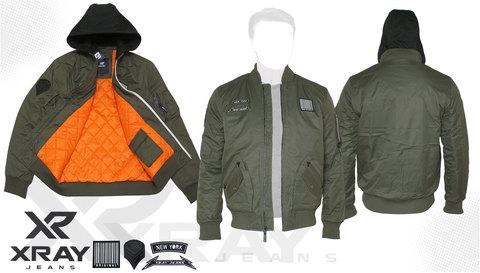 Куртка утепленная 'MA-1 Hooded New York' Olive