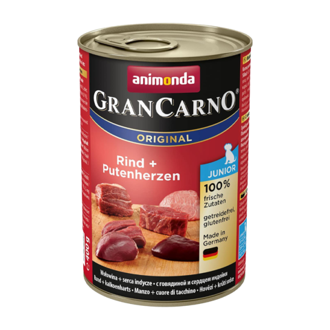 Animonda GranCarno Original Junior Консервы для щенков с говядиной и сердцем индейки