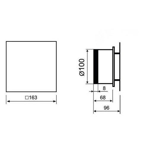 Вентилятор накладной энергосберегающий бесшумный MMotors JSC MMP-UE 100 Стекло/Черный