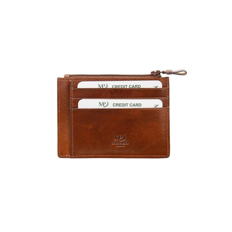 B120255R Cognac - Футляр для карт MP с RFID защитой