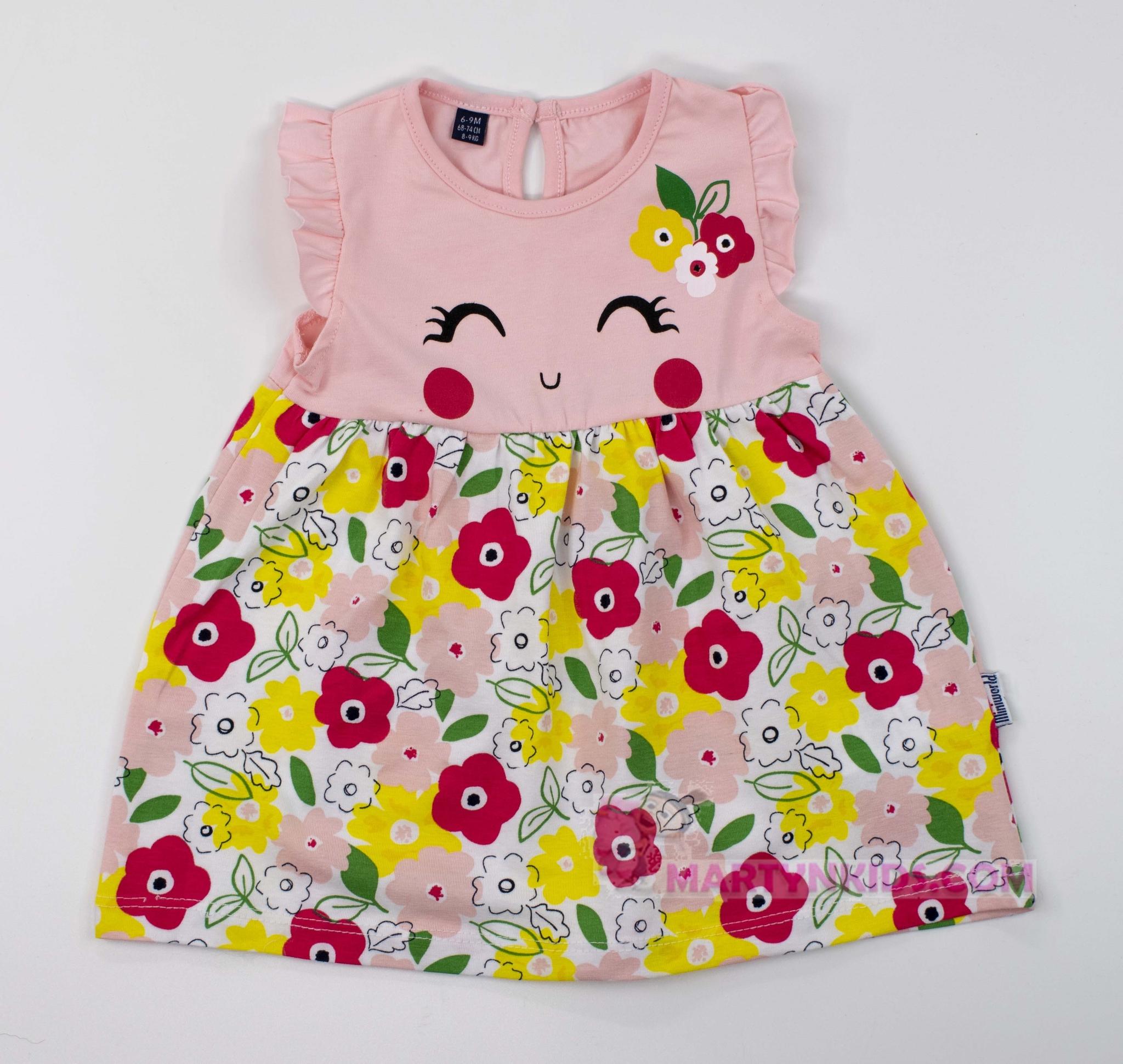 3456 платье Цветочки бровки