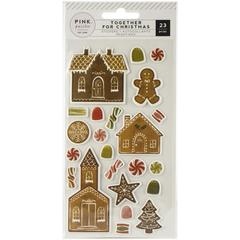 Паф-стикеры Together For Christmas Puffy Stickers 23/Pkg