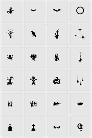 Большая коллекция трафаретов X-COLOR - Halloween 1- 24шт.