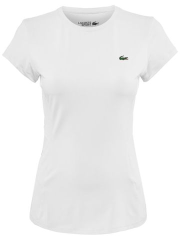 Женская футболка Lacoste Women's SPORT Crew Neck Stretch Tech Jersey Mesh Tennis T  / TF4407-Z92