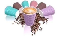 Бумажный стакан 300/355мл NDW12 Кофейные зерна 4 цвета для 2 сл.гор. напитков