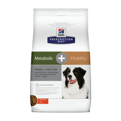 Hill's Prescription Diet Metabolic + Mobility Weight + Joint Care Сухой диетический корм для собак с ожирением и при заболевании суставов с курицей