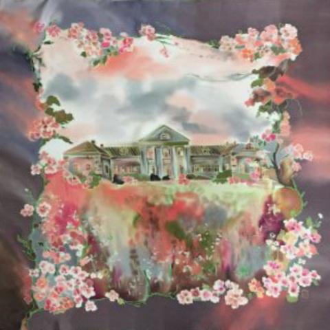Шелковый платок батик Ясная Поляна