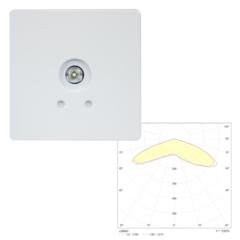 Встраиваемый квадратный точечный светильник аварийного освещения SLIMSPOT II Zone LOWBAY Teknoware