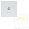 Точечный светильник аварийного освещения SLIMSPOT II Zone LOWBAY Teknoware с диаграммой светораспределения
