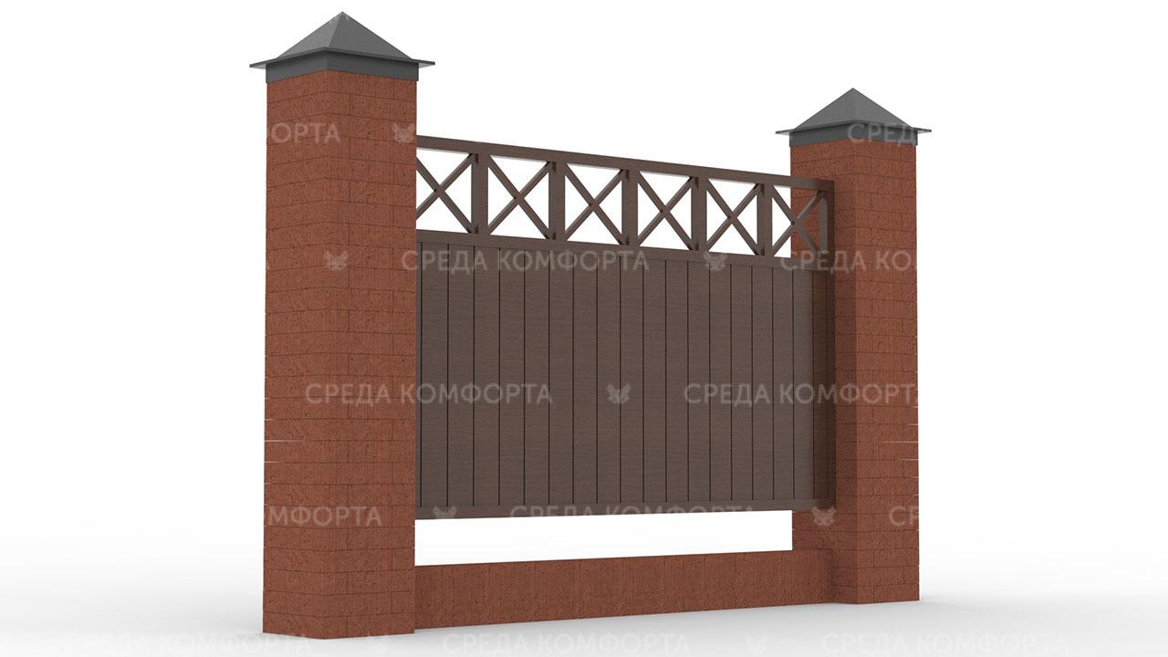 Деревянный забор ZBR0093
