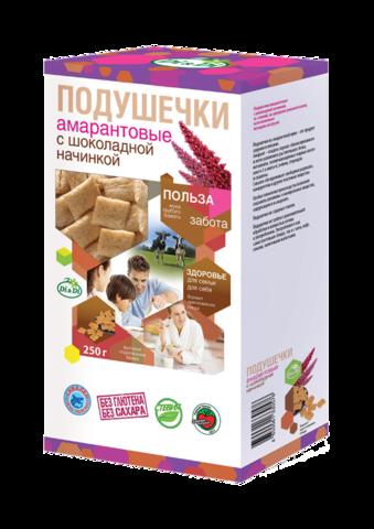 Подушечки амарантовые, Di&Di, С шоколадной начинкой, 250 г