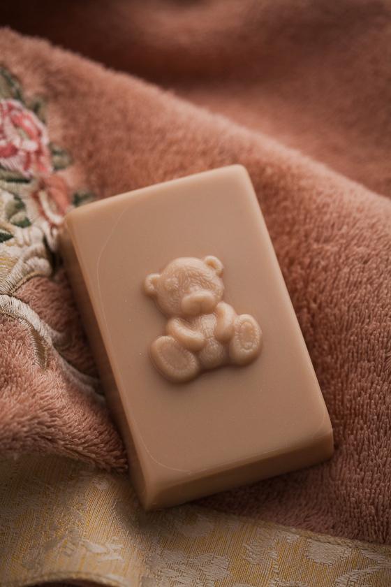 Пластиковая форма для прямоугольного мыла Мишка