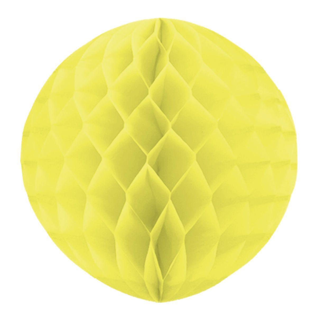 Бумажный шар Желтый 30см