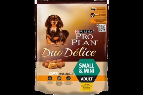 Сухой корм Purina Pro Plan DUO DELICE для взрослых собак мелких и карликовых пород с курицей и рисом