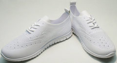 Молодежные женские кроссовки сетка Small Swan NB-821 All White.