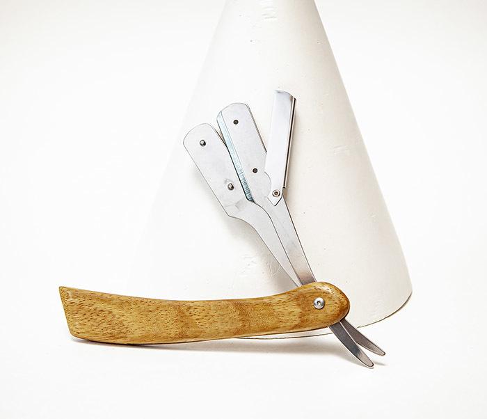 RAZ533-1 Шаветка с деревянной рукояткой фото 04