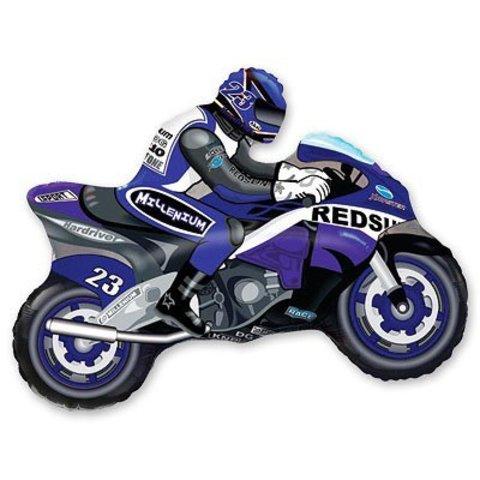 Шар фигура Мотоциклист синий