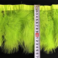 Купить перья Марабу на ленте Ultra Green ярко-зеленые в интернет-магазине