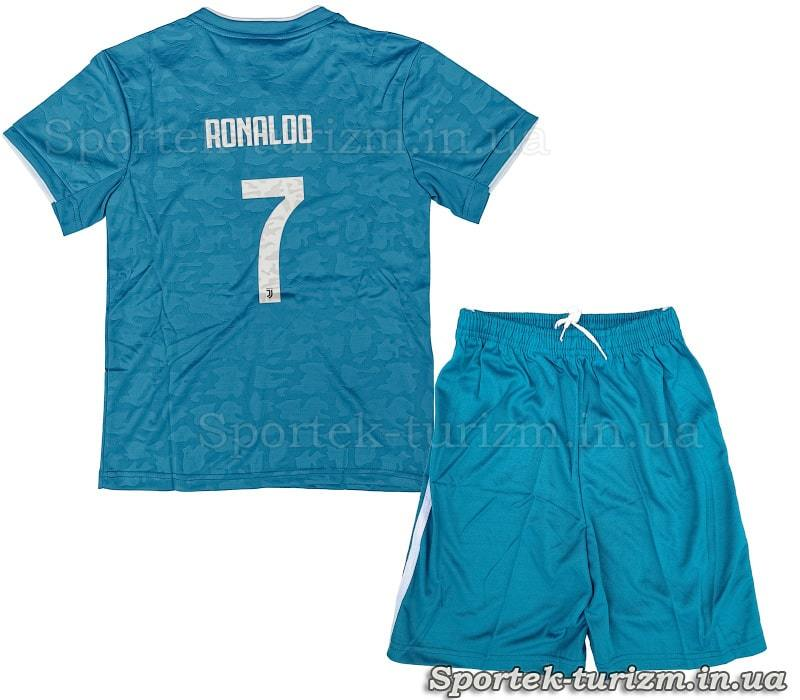 Вигляд ззаду футбольної форми JUVENTUS RONALDO 7 CO-1126