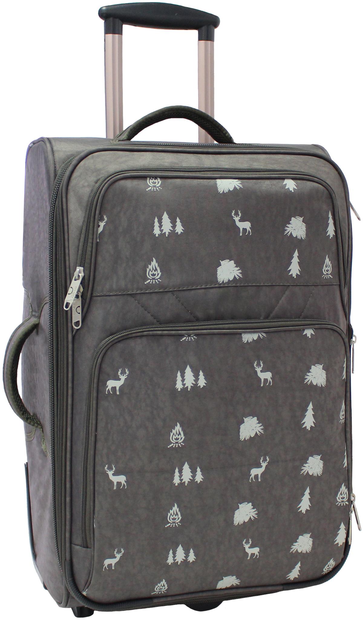 Дорожные чемоданы Чемодан Bagland Леон средний 51 л. 327 хакі/олені (003767024) IMG_5411.JPG