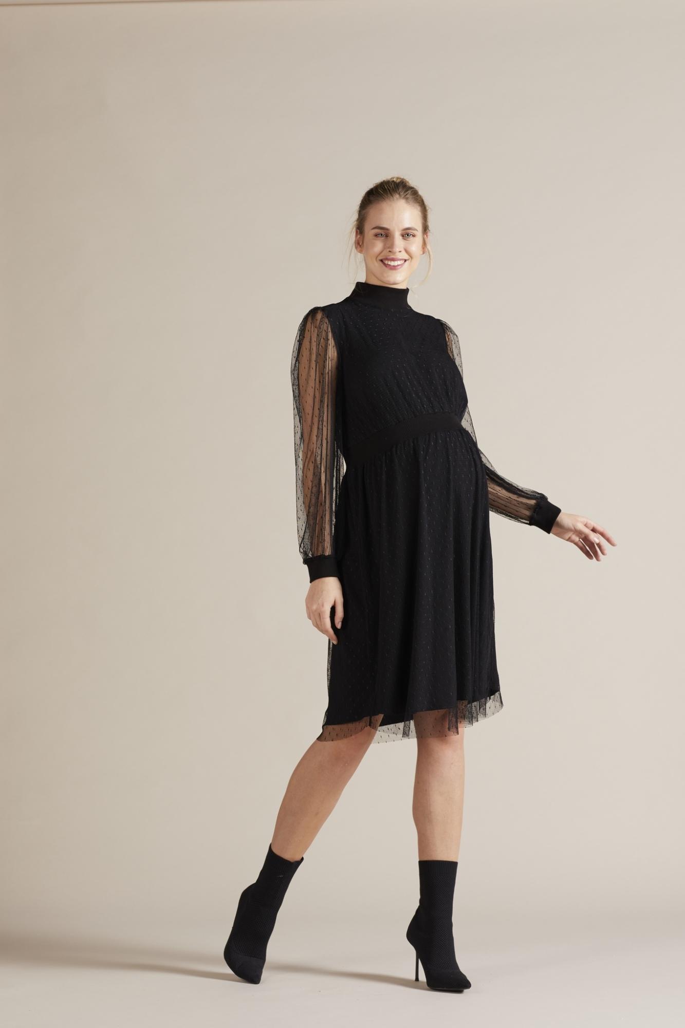 Фото платье для беременных GEBE от магазина СкороМама, черный, размеры.