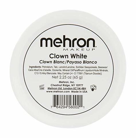 MEHRON Грим для клоуна экстра белый Clown White, 65 г