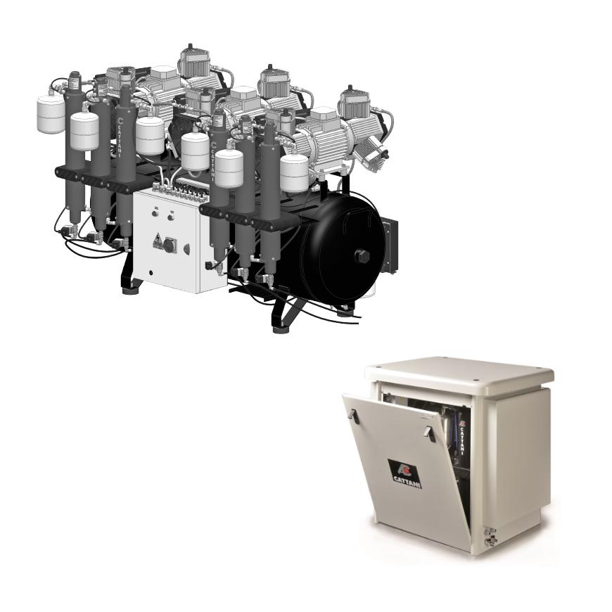 AC1800 безмаcляный компрессор (24 установки - 3х6 цилиндров) Cattani