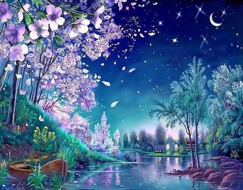 Алмазная Мозаика 50x65 Сказочное озеро