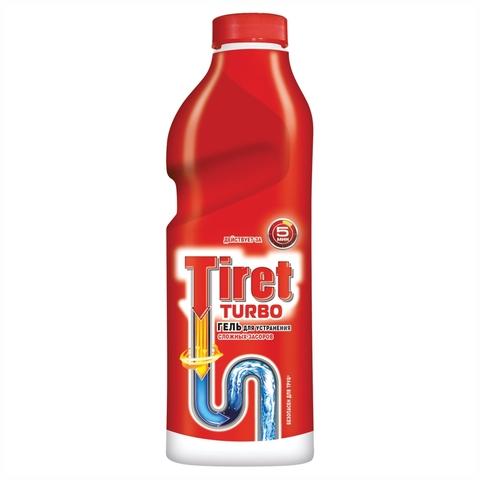 Средство чист TIRET Turbo д/сливных труб 1 л РОССИЯ