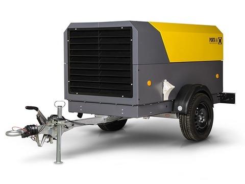 Компрессор дизельный Comprag PORTA 9 DRY на шасси с регулируемым дышлом, с доохладителем и сепаратором конденсата