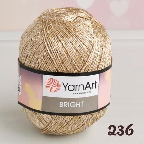YARNART BRIGHT 236, Темное золото