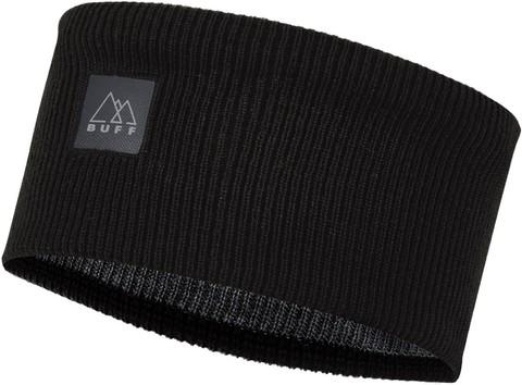 Повязка Buff Crossknit Headband Solid Black фото 1