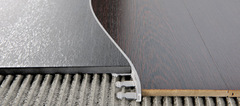 Радиусные, гнутые профили/пороги Progress Profiles Proterminal curve PTANCV 10 для напольных покрытий из ламината, паркета, керамогранита, ковролина, линолеума