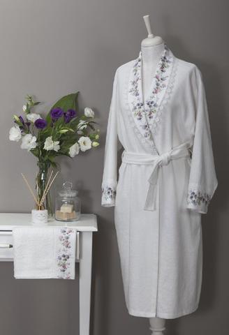 VERSAILES махровый  женский халат кремовый Tivolyo Home Турция
