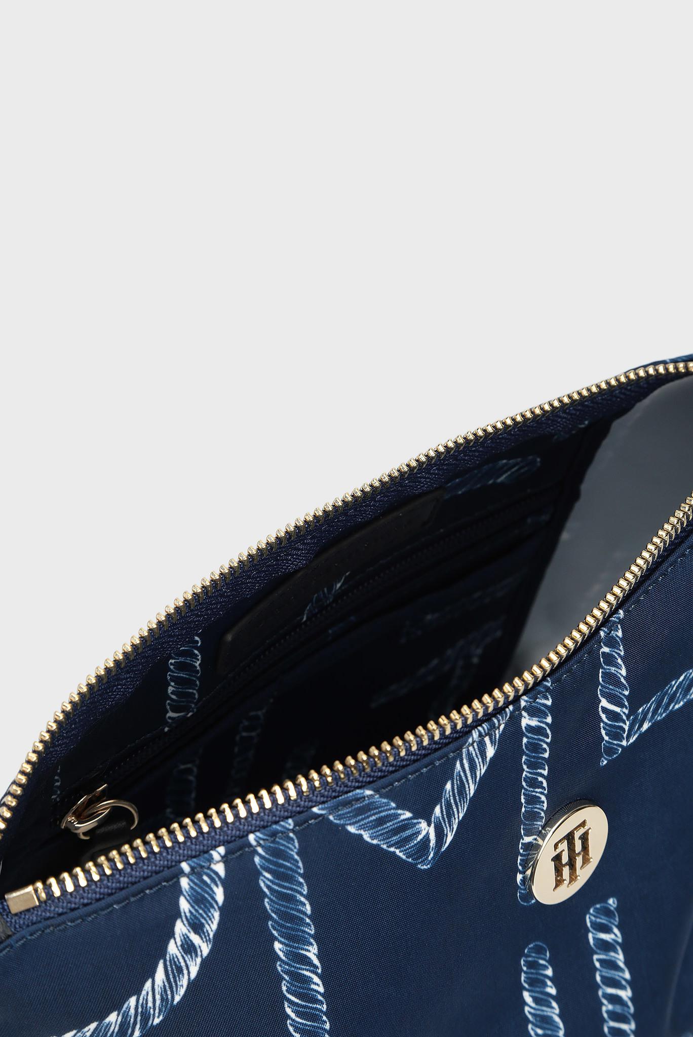 Женская синяя косметичка с принтом POPPY WASHBAG Tommy Hilfiger