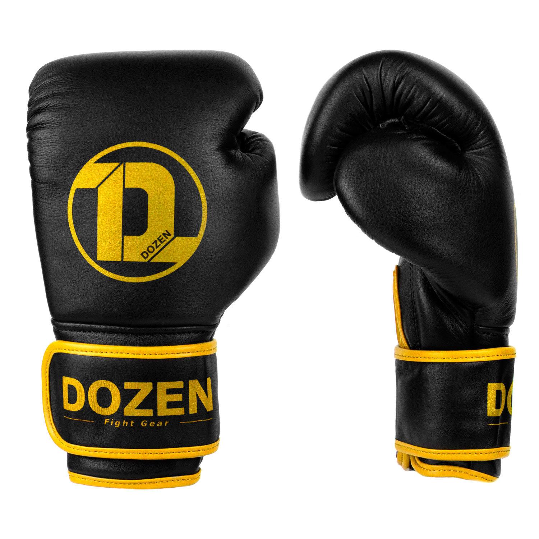 Перчатки Dozen Monochrome Black/Yellow вид сбоку