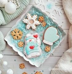 Снеговик №17 с сердцем